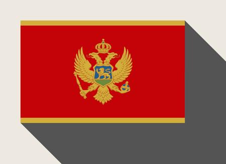 Montenegro flag in flat web design style.
