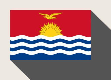kiribati: Kiribati flag in flat web design style. Stock Photo