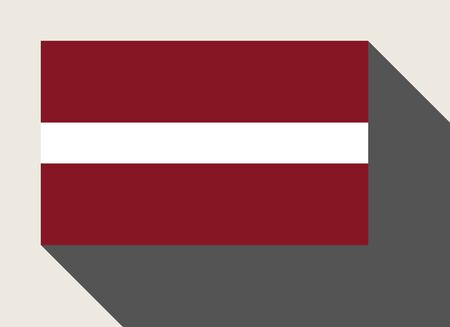 latvia flag: Latvia flag in flat web design style. Stock Photo