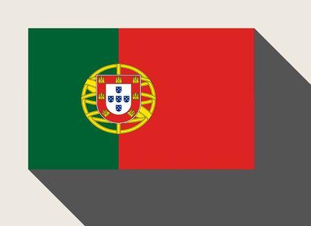 drapeau portugal: Drapeau du Portugal dans le style de conception web plat.