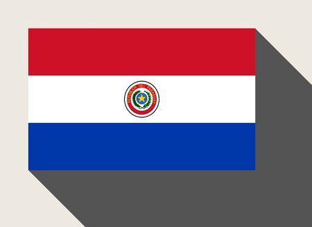 bandera de paraguay: Bandera de Paraguay en la web de estilo diseño plano.