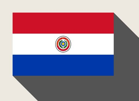 paraguay: Paraguay flag in flat web design style. Stock Photo