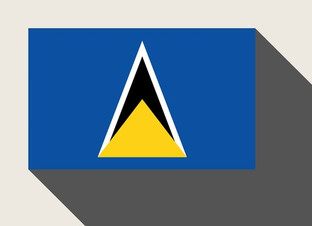 st lucia: St Lucia flag in flat web design style.
