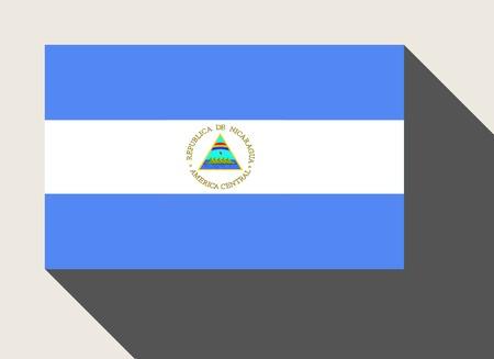 nicaragua: Nicaragua flag in flat web design style. Stock Photo