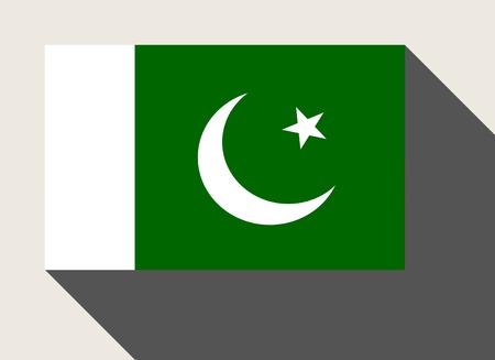 pakistan flag: Pakistan flag in flat web design style.
