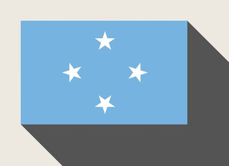 micronesia: Federated States of Micronesia flag in flat web design style.