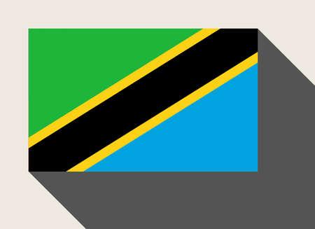 tanzania: Tanzania flag in flat web design style. Stock Photo