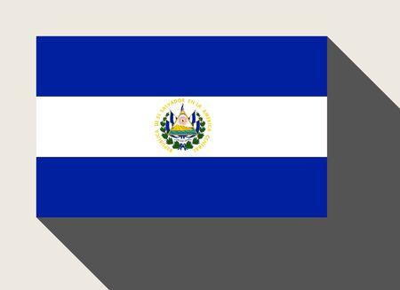 bandera de el salvador: bandera de El Salvador en el estilo plano de diseño web.