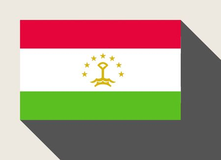 tajikistan: Tajikistan flag in flat web design style. Stock Photo