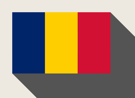 chad flag: Chad flag in flat web design style. Stock Photo
