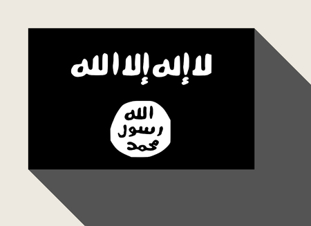 extremist: The Islamic State of Iraq and the Levant, also known as the Islamic State of Iraq and Syria (ISIS) flag.