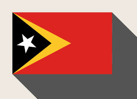 east: East Timor flag in flat web design style.