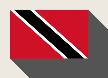 trinidad and tobago: Trinidad and Tobago, flag in flat web design style. Stock Photo