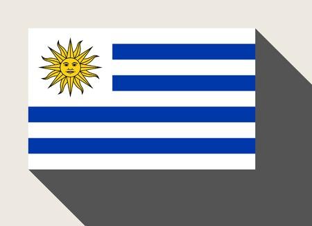 bandera de uruguay: bandera de Uruguay en el estilo de dise�o de la tela plana.