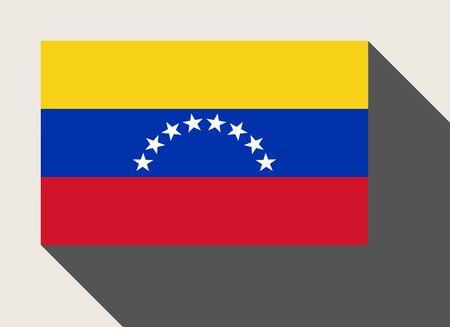 bandera de venezuela: bandera de Venezuela en el estilo de dise�o de la tela plana.