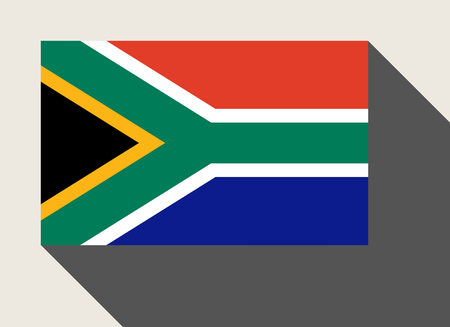 south africa flag: South Africa flag in flat web design style.