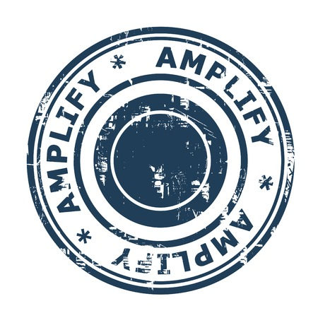 amplify: Amplify business concept stamp isolated on a white background.