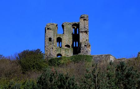 norman castle: Scarborough Castle Ruins, North Yorkshire, England.