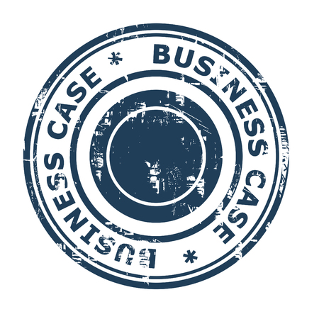 business case: Business case concept rubber stamp isolated on a white background.