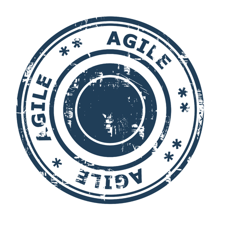 agile: Agile business concept stamp isolated on a white background. Stock Photo