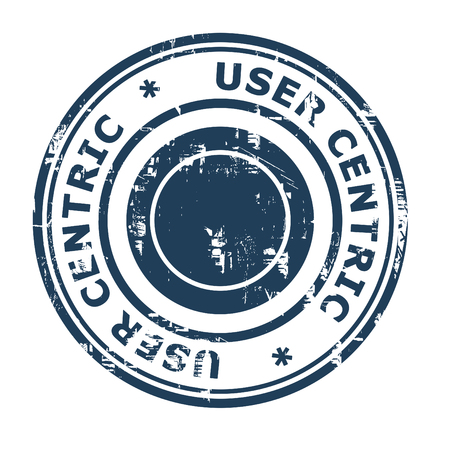 centric: User centric business concept rubber stamp isolated on a white background.