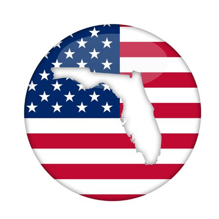florida state: Florida state of America badge isolated on a white background.