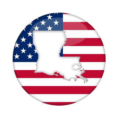 louisiana state: Louisiana state of America badge isolated on a white background.