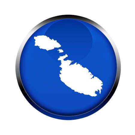 malta map: Malta map button in the colors of the European Union.