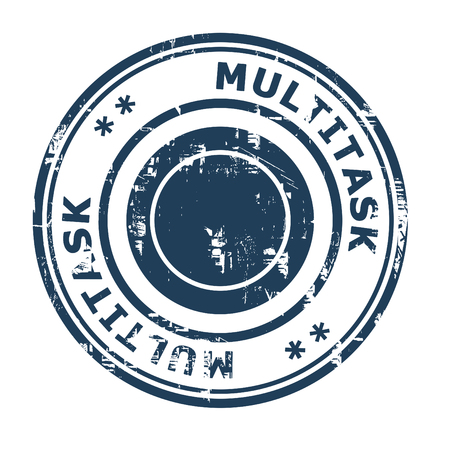 multitask: Multitask business concept rubber stamp isolated on a white background.