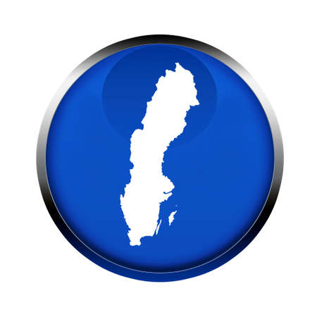 sweden map: Sweden map button in the colors of the European Union. Stock Photo