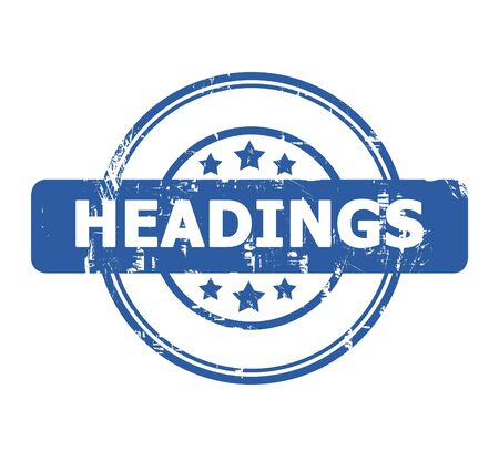 headings: Headings stamp with stars isolated on a white background.