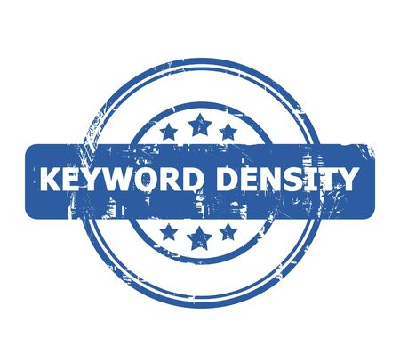 keyword: Keyword Density Stamp with stars isolated on a white background. Stock Photo