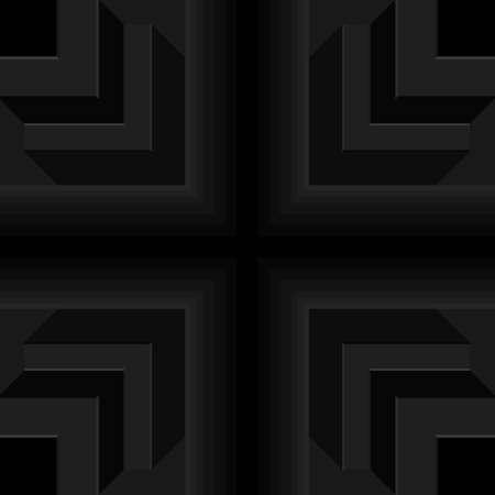 Black pipe shape crisscross, 3d right-angled edge, seamless geometric pattern. Templates for background, banner, brochure, book cover, business card, flyer, leaflet, poster, tile, wallpaper. Vector illustration. Stock Illustratie