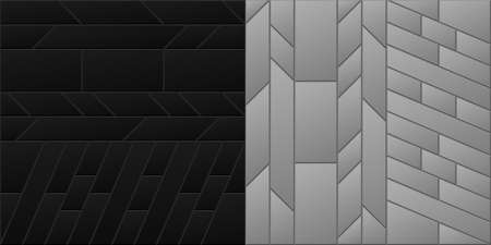 Black And Gray Square Shape, Seamless Geometric Pattern. Templates for background, banner, brochure, book cover, business card, flyer, leaflet, poster, tile, wallpaper. Vector illustration.