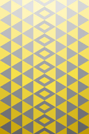 Geometric background pattern. Yellow gray triangle shape, gradient from bright to dark. Vector illustration.