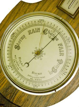 Close up  of an antique banjo barometer Stock Photo