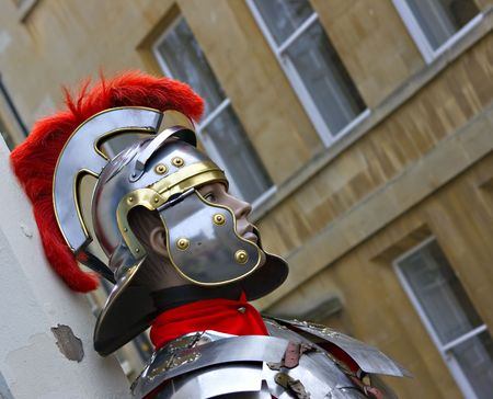 manequin: manequin dressed as a Roman Soldier Stock Photo