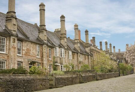 Wells Somerset UK Vicars Close the oldest continuously inhabited street in Europe Stock Photo