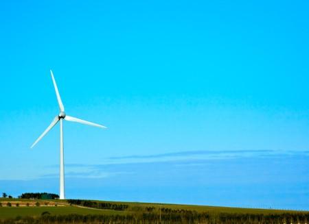 A single wind turbine stood on a hill Stock Photo - 7035809