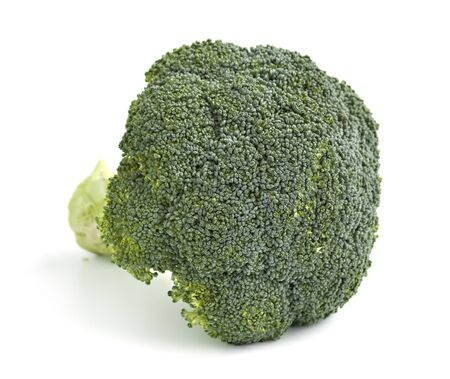 brocolli: An isolated head of brocolli