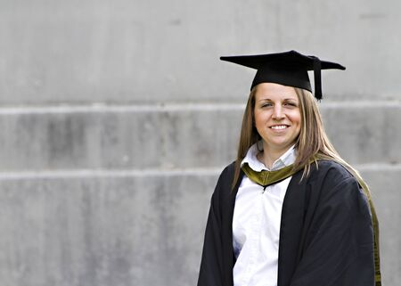 Proud young student at her graduation