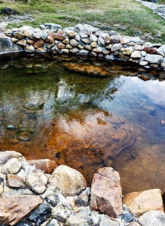 no rush: The hot pond Jeason in Lampang from Thailand its hightest 82 C