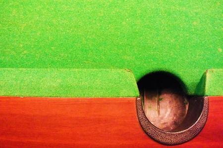 sump: la fossa di tavolo da biliardo visione dell'arte. Archivio Fotografico
