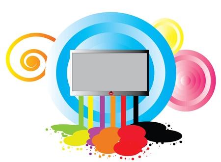 tv unit: Background about televistion graphic art .