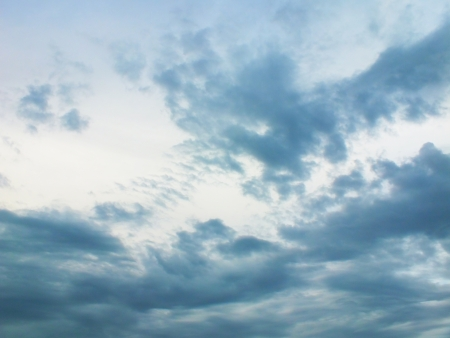 skie: On the sky with many cloud Stock Photo