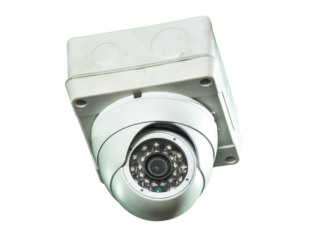 vdo: The dome camera with white background  isolated