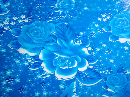 lambent: Striped flowers graphic art and beautiful with blue tone from my old table. Stock Photo