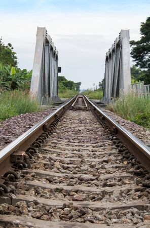 It is the old railway line east of Thailand, at the front you see is the bridge. photo