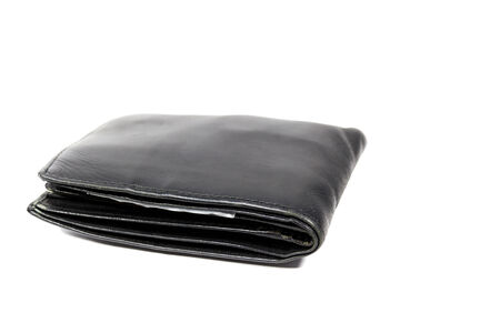 billfold: billfold on the white background . Stock Photo