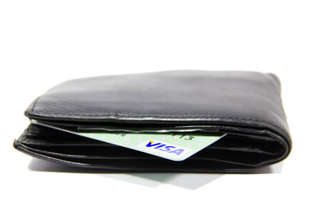 billfold: VISA Card in billfold .